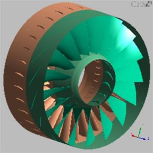 ANSYS CFX calculations of axial gas turbo compressors