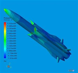 Transonic and supersonic flows modeling in ANSYS CFX-5.7